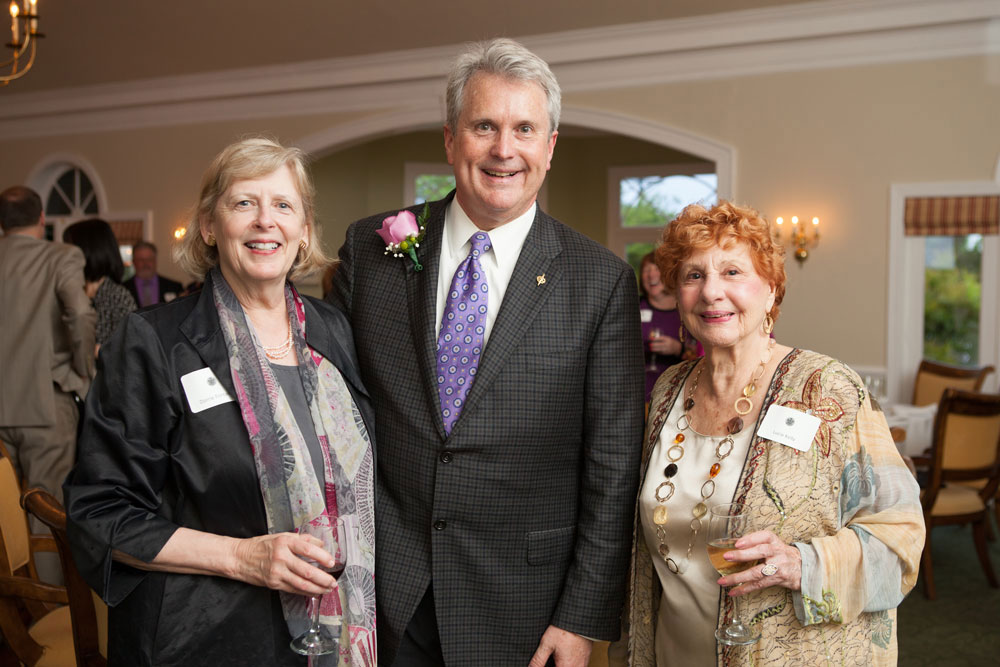 Dorrie Fontaine, Ken White and Sigma President Emerita Lucy Kelly at Beta Kappa chapter of Sigma Distinguished Nurse Award ceremony